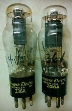 PAIR WESTERN ELECTRIC 336A AUDIO TUBES