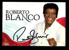 Roberto Blanco Autogrammkarte Original Signiert ## BC 87373