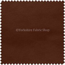 Soft Faux Leather Thick Durable PU Upholstery Fabrics Leatherette New Oak Brown