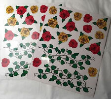 STICK ON DECALS ROSES AND LEAVES