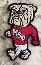 """MSU Bulldogs Vintage Embroidered Iron On Patch (RARE) 3.5"""" x 3"""" NCAA"""