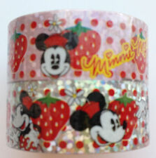 Washi Masking Tape Disney Minnie Mouse with Strawberries Cartoon series 6 Rolls