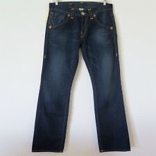 TRUE RELIGION JEANS DENIM BOBBY HERITAGE LEATHER PATCH SIZE 34 MADE IN USA NWT