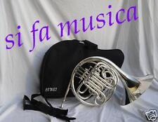 COMET Corno doppio argentato 4 cilindri SIbFA x studio Banda Orchestra EX DEMO