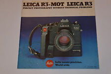 VINTAGE 1978 LEICA R3-MOT CAMERA BROCHURE! CROSS SECTION! LENSES TOO! 48 PAGES!