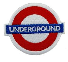 UNDERGROUND Tube Train Music Embroidered Iron Sew On Shirt Bag Hat Badge Patch