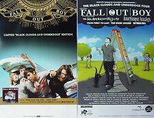 FALL OUT BOY Black Clouds And Underdogs PROMO TwoSided Poster PATRICK STUMP Rare