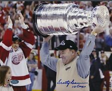 Scotty Bowman Red Wings Signed 8x10 Photo Autograph Auto Mounted Memories