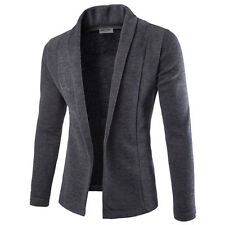 NEW Stylish Mens Casual Solid Slim Fit Knitting Blazer Open Cardigan Coat Jacket