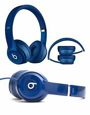 Genuine Beats Solo 2 By Dr Dre Wired On Ear Headband Headphones Headset Blue
