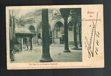 1901 Constantinople French Post Office Turkey postcard cover Italy Bayazed Mosqu