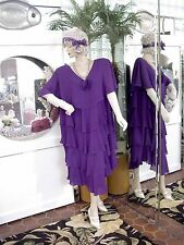 1920s DRESS 1930s FLAPPER Modern Millie GATSBY DOWNTON ABBY PURPLE PLUS SIZE