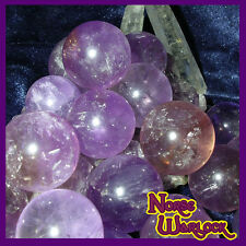 3 Amethyst Sphere Crystal Balls for Psychic Energy & Spirit Offerings Paranormal