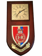 Royal Military Academy Sandhurst Regimental Military Wall Plaque & Clock