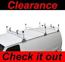 GMC Savana Fullsize Van 3 bar 1996-2014 Ladder Roof Racks Steel WHITE New Rack