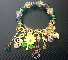 B339 BETSEY JOHNSON Sun flower Guitar Music Piano Treble Clef Quave Bracelet  US