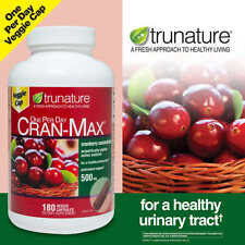 trunature CRAN-MAX Cranberry 500 mg., 180 Veggie Capsules New...Sealed!!