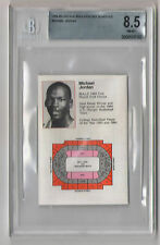 JORDAN 1984-85 CHICAGO BULLS SCHEDULE BGS 8.5 NM-MT+ 1984 draft all-star HOF