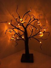 Halloween 24 Orange LED Light Up Pumpkin Tree Party/Prop