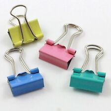 60 mixto Binder Clips / Soporte / Stationery Craft 15mm cbc658