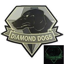 diamond dogs metal gear solid PVC rubber 3D glow dark GITD patch VELCRO® brand