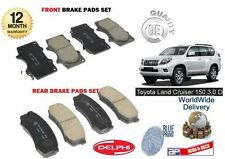 Para Toyota Land Cruiser 150 3.0 Td D4d 2009 - > Frontal + Trasera Freno Almohadillas De Disco Set