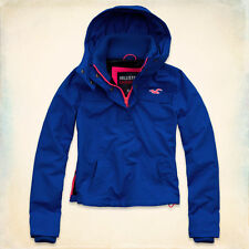 NWD Womens Hollister Jacket Half Zip-Up Hoodie Blue Long Sleeve Size XS
