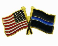 Thin Blue Line USA Flags Pin - Individual