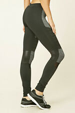 64% OFF!AUTH FOREVER 21 MARLED MOTO WORKOUT ACTIVE LEGGINGS MEDIUM BNEW US$22.90