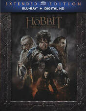 The Hobbit: The Battle of the Five Armies (Blu-ray Disc, 2015, 3-Disc Set)