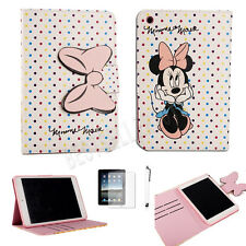For iPad mini 1 2 3 Gen Cute Polka Dot Minnie Mouse Folio PU Leather Case Cover