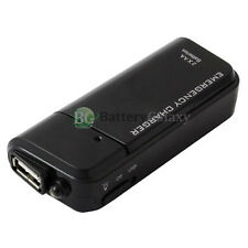 USB Black Universal Emergency Portable 2AA Battery Extender Backup Power Charger