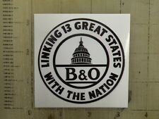 Vintage Railroad B&O Baltimore & Ohio sticker decal 3""