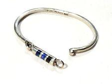 Bijou argent 950  bracelet jonc plaque émaillé 950 Mexico bangle