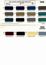 1950 HUDSON COMMODORE SUPER PACEMAKER CONVERTIBLE BROUGHAM 50 PAINT CHIPS SW6