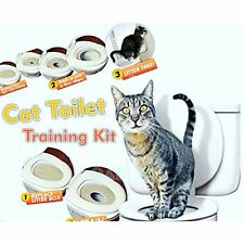 Chat siège de toilette kit de formation litière bac pot train kitty système Hot