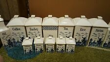 antique delft canister set, made in germany