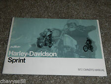1972 72 HARLEY DAVIDSON SPRINT AMF AERMACCHI 350 OWNER OWNERS OWNER'S MANUAL