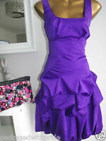 MONSOON PURPLE CARMEL RUFFLE PARTY COCKTAIL EVENING DRESS 8 10 12 14 16 18 20 22