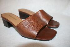 Naturalizer Size 7.5 Heel Sandals Slides Shoes Brown