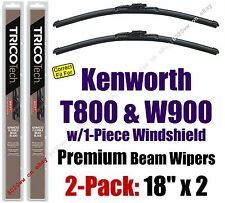 Wipers 2pk Premium fit 07-15 Kenworth T800 W900 w/1-Piece Glass 19180x2