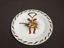 """Royal Doulton Festival Round Serving Christmas Plate w Handle 11"""" EXC"""