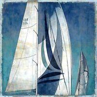 Charlie Carter: Sail away I Fertig-Bild 50x50 Wandbild segeln Segelschiff Meer