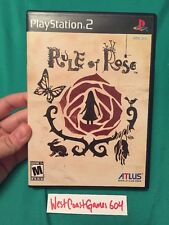 Rule of Rose COMPLETE PS2 Very Rare Atlus Game (Sony PlayStation 2, 2006)