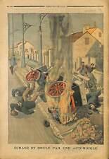 ACCIDENT A HOUILLES CONDUCTEUR DERVILLERS  DECES TERRASIER JEAN THÉVENOT 1903