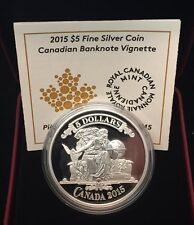 2015 Canadian Banknote Vignette Proof $5 Silver Coin