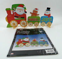 3D XMAS SANTA IN TRAIN DECORATION TABLE CENTREPIECE CHRISTMAS HOME OFFICE