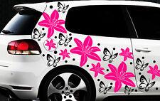 98-teiliges LILIEN Aufkleber Hibiskus Blumen Schmetterlinge HAWAII WANDTATTOO 19