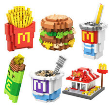 LoZ Building Block - McDonald Set Meal 1700pcs - FREE Tools No Box nanoblock toy