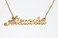 ALEXANDRA 18ct Gold Plating Necklace With Name - Love Designer Jewellery Gifts